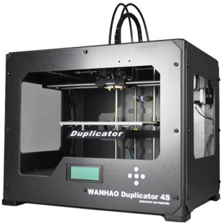 Wanhao Duplicator 4S 3D-Skrivare Svart metalllåda Dual Extruder