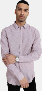 Only & Sons Caiden LS Solid Linen Skjorte Rose Taupe