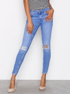Gina Tricot Kristen Mid Waist jeans Skinny Electric Blue