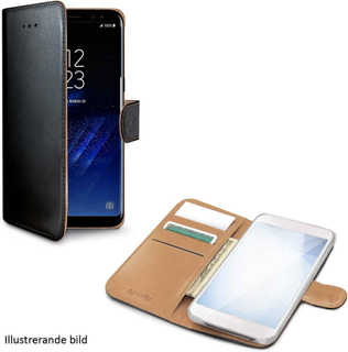 Celly Wallet Case Samsung Galaxy S9+, svart och brunt