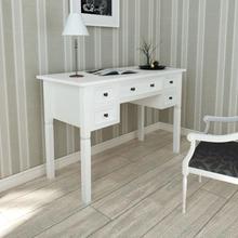 vidaXL Kirjoituspöytä 5 laatikolla valkoinen