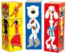 Djeco - 9 Funny Animal Blocks