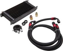 AN10 Universal Engine Oil Cooler+Filter Relocation Adapter Hose Kit 01EGF004BBK