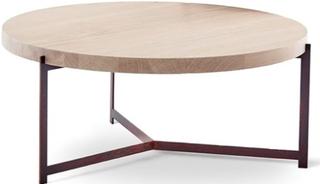 Dk3 Plateau soffbord - Ek, Behandlat stål