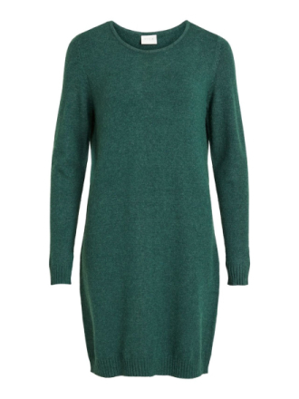 VILA Simple Knitted Dress Women Green