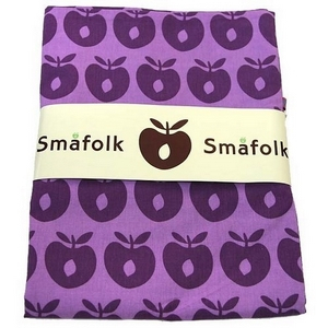 Småfolk junior sengetøj, lilla æbleprint - Babytorvet.dk