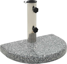 vidaXL Parasollfot granit 10 kg halvrund grå