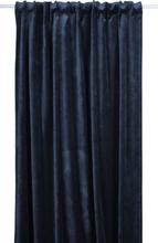Sammet gardinlängd 300x135 cm - Mörkblå