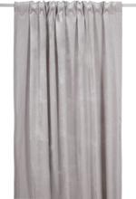 Sammet gardinlängd 300x135 cm - Ljusgrå