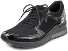 Sneakers Clara i äkta läder från Waldläufer Orthotritt svart