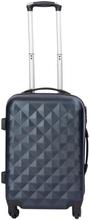 Kabinekuffert - Diamant Mørke Blå hardcase kuffert - Eksklusiv rejsekuffert