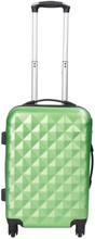 Kabinekuffert - Diamant Grøn hardcase kuffert - Eksklusiv rejsekuffert