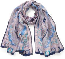Sjaal Glory Paisley 100% zijde Van Roeckl blauw
