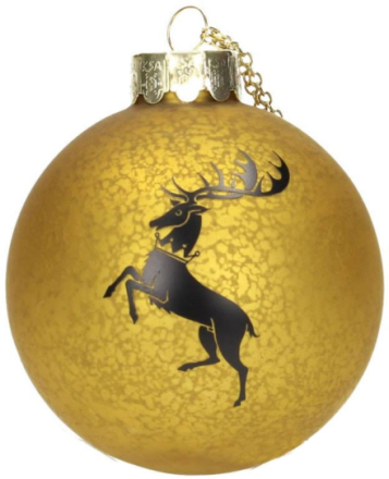Game of Thrones - Baratheon Glass Ornament
