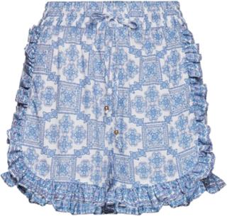 Leona Shorts Shorts Flowy Shorts/Casual Shorts Blå By Malina