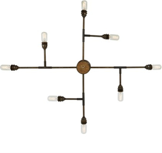 Mullan Lighting San felipe takkrona - Polished brass