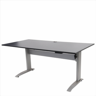 FTI EP 1750 hæve/sænke bord - sort træ m. aluben, elektrisk (80x160)