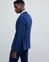French Connection Slim Fit Wedding Suit Jacket-Blue