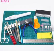 Hobby Modelling Tools Set Model DIY Accessories Cutting Mat Self Healing Grinding Machine Polishing Tools Kit For Gundam