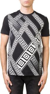 Versace Collection mäns Crew Neck Fit Regular T-Shirt svart XL