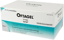 Santen Oftagel, ögongel i endosbehållare 2,5 mg/g 120 st