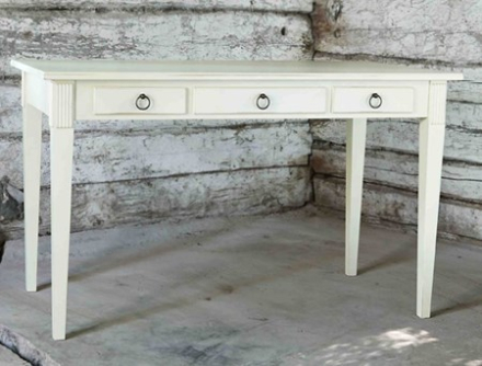 Allinwood Gustavian skrivbord – Gräddvit