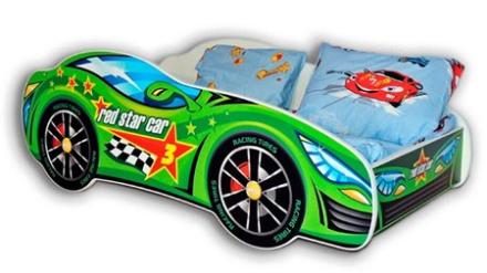 Cool beds Racing car bilsäng - Grön, 160x80