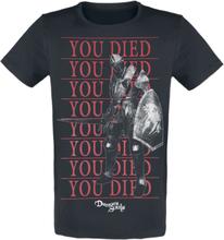 Demon's Souls - You Died Knight -T-skjorte - svart
