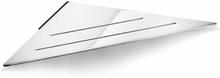 Unidrain Reframe hjørnehylle, håndpolert stål