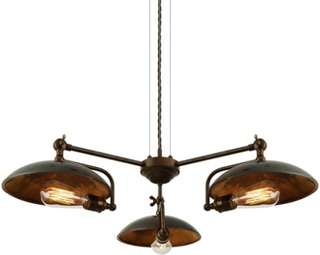 Mullan Lighting Cullen b 3 takkrona - Antique brass