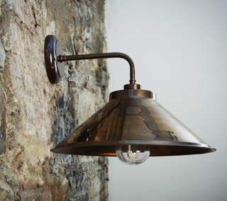Mullan Lighting Nerissa vägglampa - Polished brass