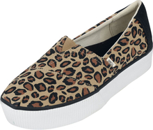 TOMS - Leopard Alpargata Boardwalk Slip-On -Sneakers - svart