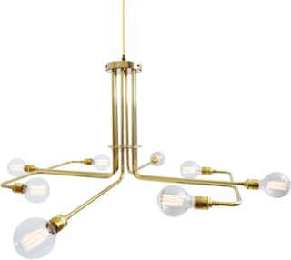 Mullan Lighting Amman takkrona – Antique brass