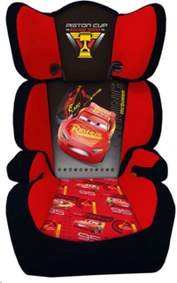 Disney autostol Biler 3 2 + 3 sort og rød AUTO320002