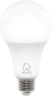 Deltaco Smart Home WiFi Led-lampa, E27 9W 810lm