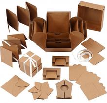 Exploding Box, stl. 7x7x7,5+12x12x12 cm, 1 st., kvist