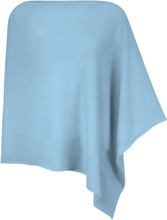 Poncho i 100% kashmir i Premium-kvalitet från Peter Hahn Cashmere blå