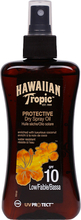 Köp Hawaiian Tropic Protective Dry Spray Oil, SPF 10, 200ml Hawaiian Tropic Solskydd fraktfritt