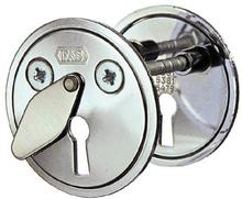 Godkänd nyckelskylt till tillhållarlås ASSA 5301 Krom