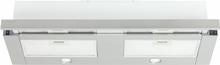 Utdragbar köksfläkt Nogran rostfritt stål 90 cm + LED