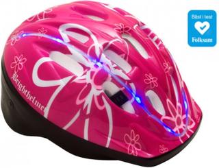 Cykelhjälm för barn Brighthelmet Kids Rosy Green med LED 210470d825c18