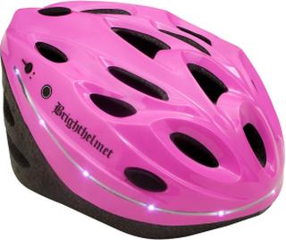 Cykelhjälm för vuxna Brighthelmet Pink med LED 05f86a47389ae