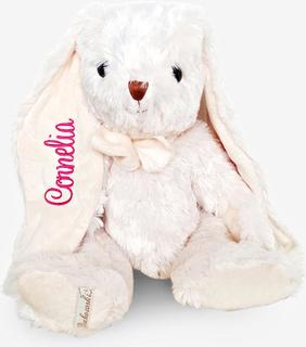 Vit kanin mjukisdjur med namn, 40 cm
