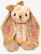 Brun kanin mjukisdjur med namn, 40 cm