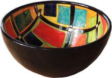Handmålad skål