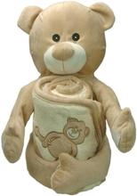 Handduk med huva 75x75 cm Ben Teddy Bear