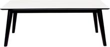 Nora sofabord 120 cm - hvid og sort - mindre fejl (B32)