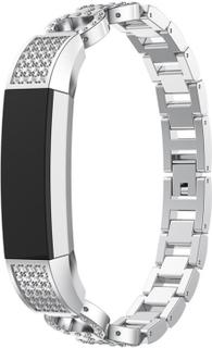 Fitbit Alta 8-formet reim legert dekor med bergkrystall - Sølv