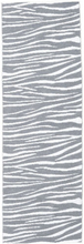Zebra - Grå matta 70x280 Modern, Avlång Matta