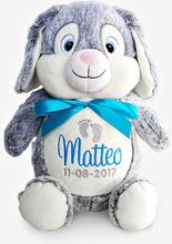 Grå kanin personligt mjukisdjur, 40 cm